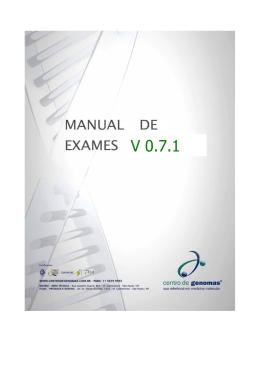 V 0.7.1 - Centro de Genomas