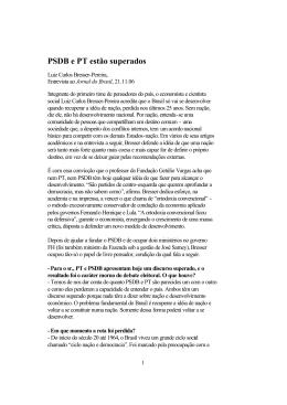 06.11.21.PSDB e PT estão superados
