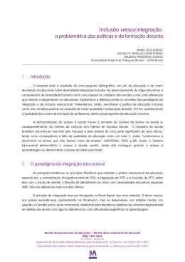 Inclusão versus integração: - Revista Iberoamericana de Educación