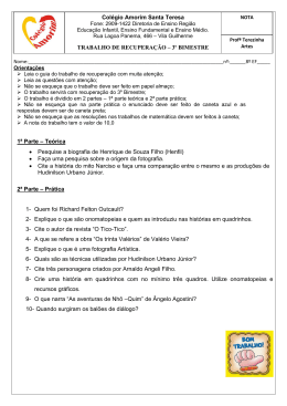 1ª Parte – Teórica • Pesquise a biografia de Henrique de Souza