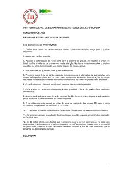 INSTITUTO FEDERAL DE EDUCAÇÃO CIÊNCIA E