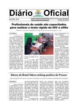 diário oficial n° 18 - SEE - Governo do Estado de Pernambuco