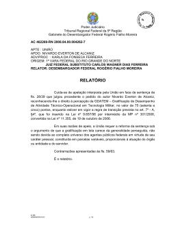 RELATÓRIO - Tribunal Regional Federal da 5ª Região