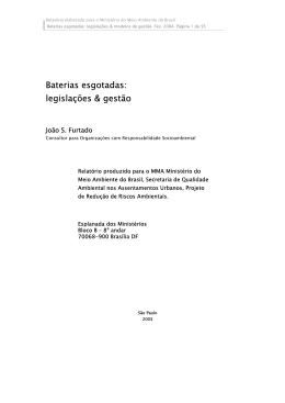 Baterias esgotadas: legislações & gestão