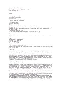 Francirley dos Santos Oliveira Data: 25/08/2014 12:47:49 Análise