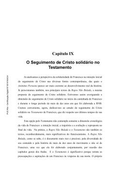 Capítulo IX O Seguimento de Cristo solidário no Testamento