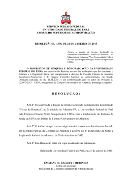 SERVIÇO PÚBLICO FEDERAL - Universidade Federal do Pará