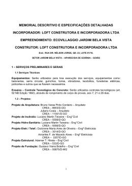 Memorial Descritivo - equipeaguiago.xpg.com.br