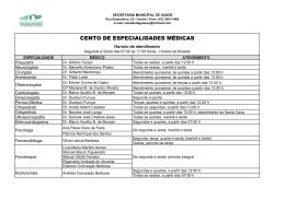cento de especialidades médicas - Prefeitura de Bataguassu