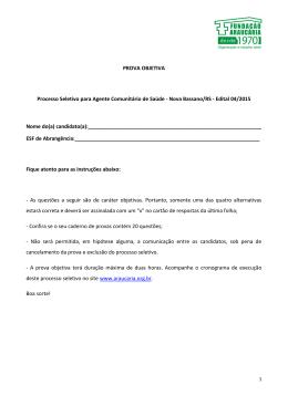 Edital 04/2015 - Prova - Fundação Araucária