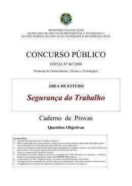 03 rascunho gabarito - Instituto Federal do Espírito Santo