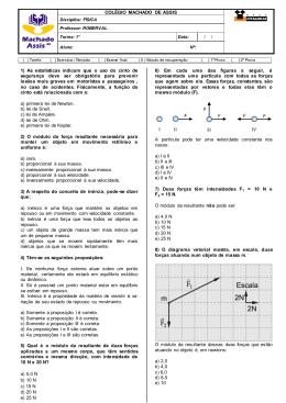 Estudo de Recuperação Física 1º ano EM - 2º tri