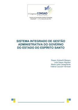 043 – sistema integrado de gestão administrativa do