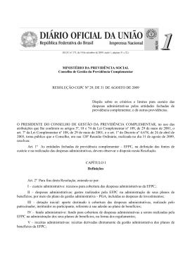 RESOLUÇÃO CGPC Nº 29, DE 31 DE AGOSTO DE 2009