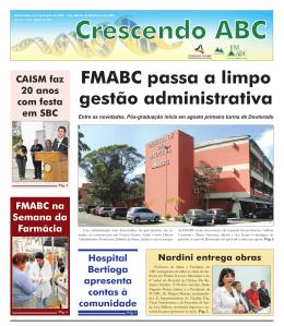 FMABC passa a limpo gestão administrativa