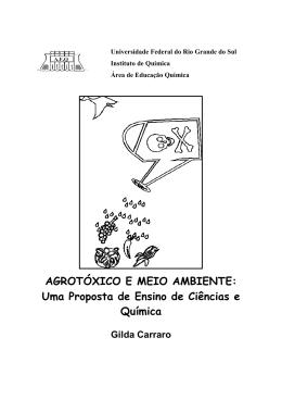 AGROTÓXICO E MEIO AMBIENTE - Instituto de Química