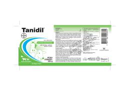 Bula Tanidil - Bayer Saúde Animal