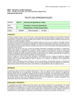 TEXTO DE APRESENTAÇÃO - Ministério do Meio Ambiente