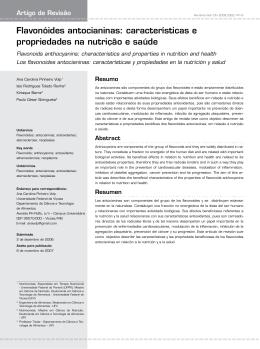 Flavonóides antocianinas: características e