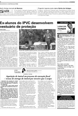Ex-alunos do IPVC desenvolvem vestuário de proteção