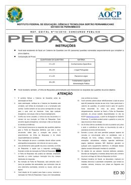 ED30 PEDAGOGO