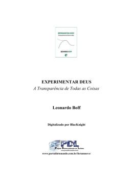 LIvro -Leonardo Boff - Experimentar Deus