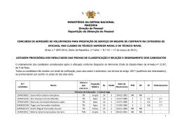 1 S. R. MINISTÉRIO DA DEFESA NACIONAL MARINHA Direção de