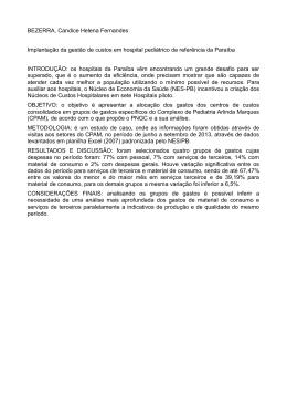 BEZERRA, Candice Helena Fernandes Implantação da gestão de