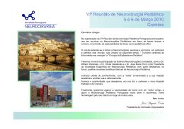VIº Congresso de Neurocirurgia Pediátrica Coimbra 5 e 6 de Março