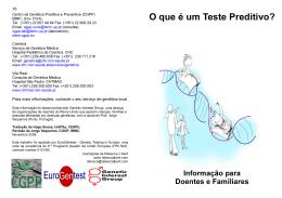O que é um Teste Preditivo? - Centro de Genética Preditiva e