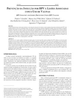 prevenção da infecção por hpv e lesões associadas com o uso de