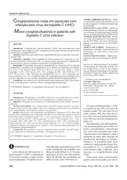Crioglobulinemia mista em pacientes com infecção pelo