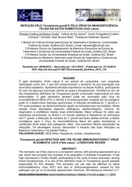 INFECÇÃO PELO Toxoplasma gondii E PELO VÍRUS DA