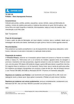 FICHA TÉCNICA TS 3201 00 Polisten – Stain Impregnante Premium