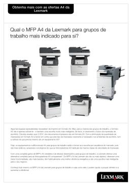Qual o MFP A4 da Lexmark para grupos de trabalho mais indicado