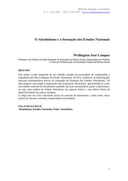 O Absolutismo e a formação dos Estados Nacionais.
