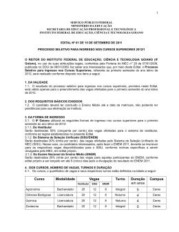 Edital - Instituto Federal Goiano
