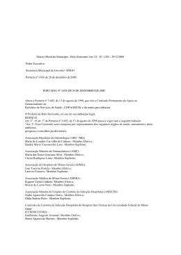 Diário Oficial do Município - Belo Horizonte Ano VI - Nº: 1.283