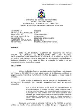 Acórdão 043 - FREITAS E BORGES LTDA - AI