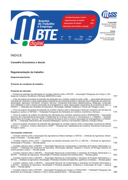 BTE 18/2010 - Boletim do Trabalho e Emprego