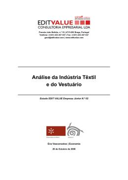 Análise da Indústria Têxtil e do Vestuário