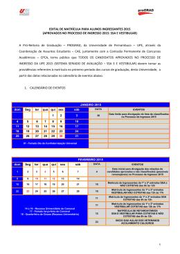 Edital de Matrícula 2015