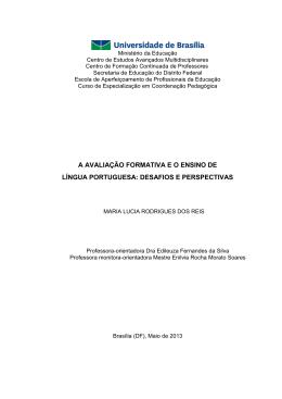 a avaliação formativa e o ensino de língua portuguesa