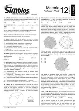 15.SB-15 - Lista 12 - Poliedros Convexos