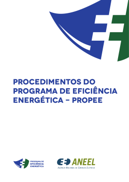 Procedimentos do Programa de Eficiência Energética