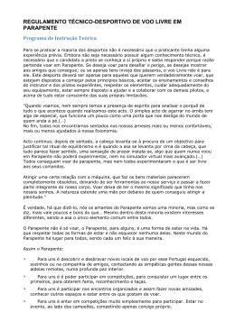 regulamento técnico-desportivo de voo livre em parapente