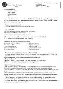 Geografia 9º Ano - Colégio Maria Clara Machado