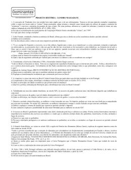 PROJETO HISTÓRIA - SANDRO MASSARANI