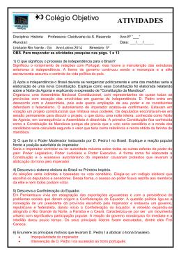 Colégio Objetivo ATIVIDADES - Colégio Objetivo Rio Verde