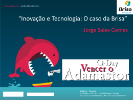 """""""Inovação e Tecnologia: O caso da Brisa"""""""